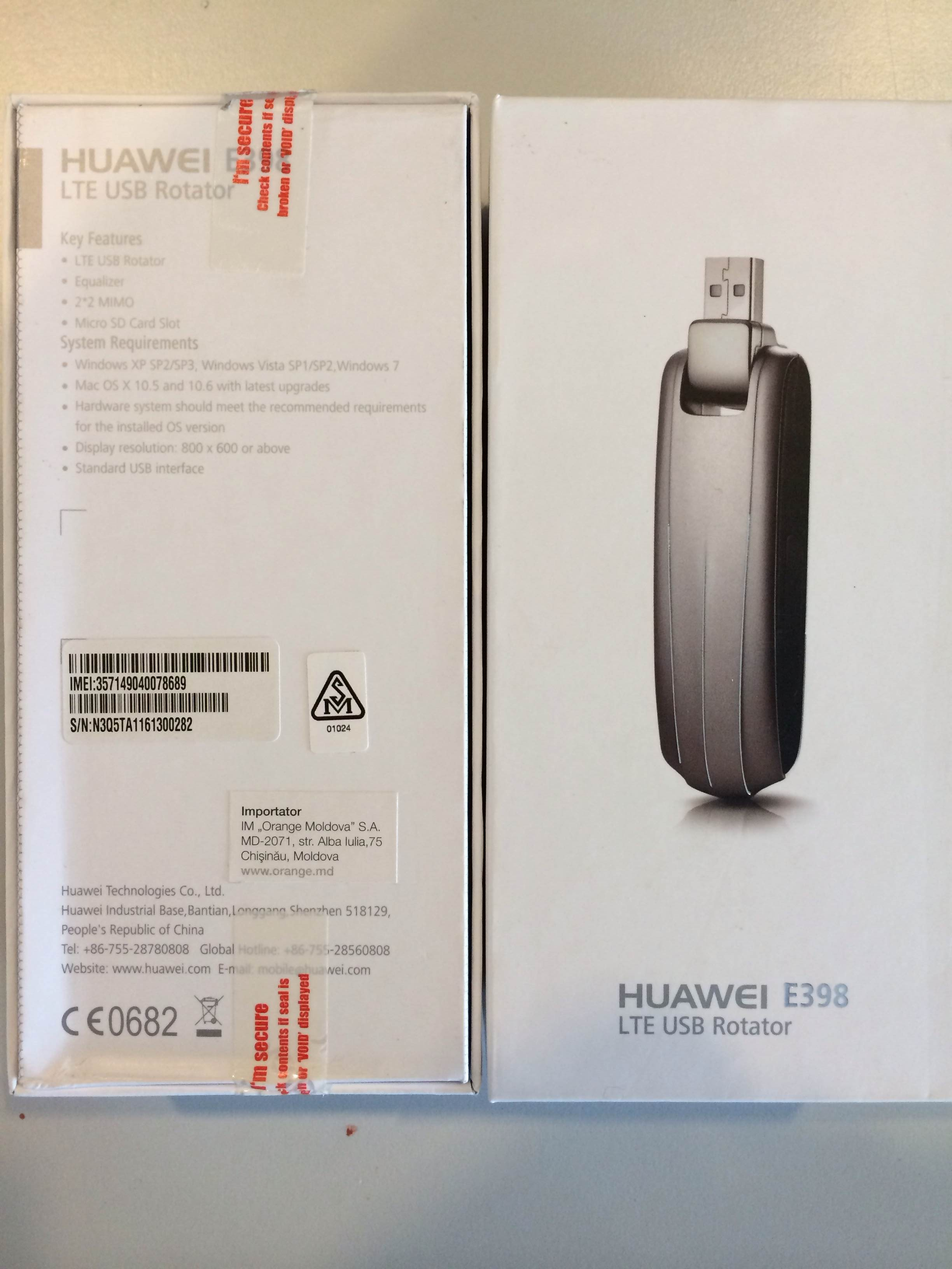Huawei E398 LTE USB Dongle Modem